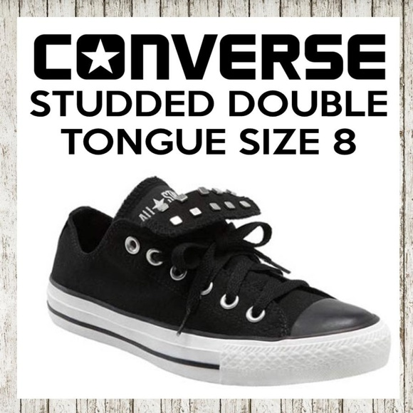 4e8b73017bc3c2 Converse Shoes - Studded Double Tongue Sneakers